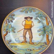 Antigüedades: TALAVERA RUIZ DE LUNA ANTIGUO Y PRECIOSO PLATO LAGARTERANO 27 CM DIÁMETRO , PERFECTO. Lote 254584730