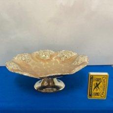 Antiguidades: CENTRO DE MESA DE METAL PLATEADO , AÑOS 70. Lote 254632525