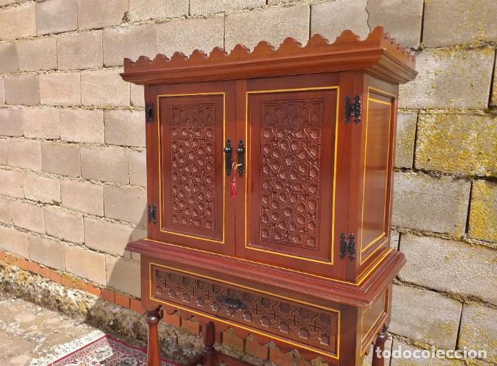 Antigüedades: Bargueño antiguo moderno estilo mudéjar árabe. Mueble papelera arquimesa estilo español neomudéjar. - Foto 7 - 254640775