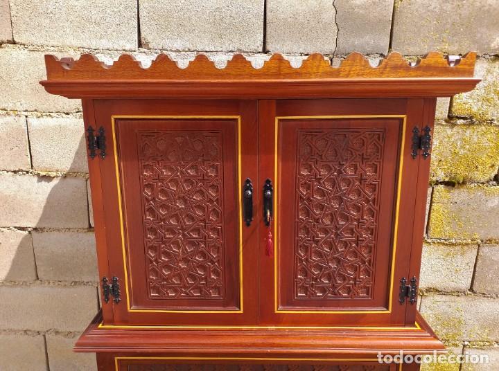 Antigüedades: Bargueño antiguo moderno estilo mudéjar árabe. Mueble papelera arquimesa estilo español neomudéjar. - Foto 8 - 254640775