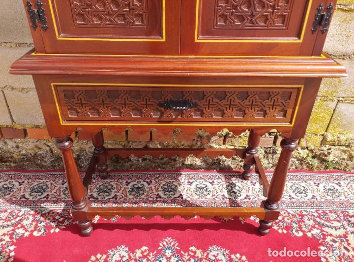 Antigüedades: Bargueño antiguo moderno estilo mudéjar árabe. Mueble papelera arquimesa estilo español neomudéjar. - Foto 9 - 254640775