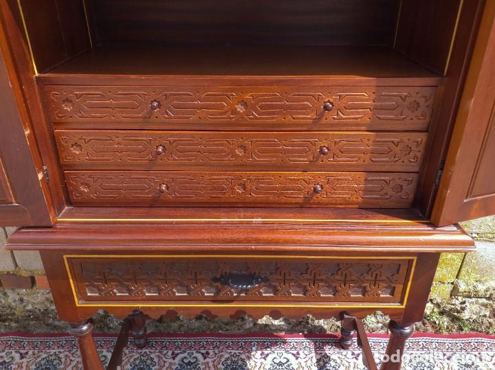 Antigüedades: Bargueño antiguo moderno estilo mudéjar árabe. Mueble papelera arquimesa estilo español neomudéjar. - Foto 12 - 254640775