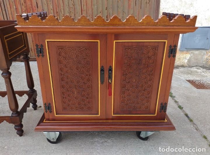 Antigüedades: Bargueño antiguo moderno estilo mudéjar árabe. Mueble papelera arquimesa estilo español neomudéjar. - Foto 16 - 254640775