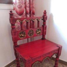 Antigüedades: SILLA CASTELLANA RESTAURADA. Lote 254641910