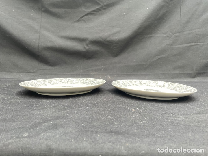 Antigüedades: CONJUNTO DE DOS PLATOS DE PORCELANA SANTA CLARA - Foto 3 - 254670420