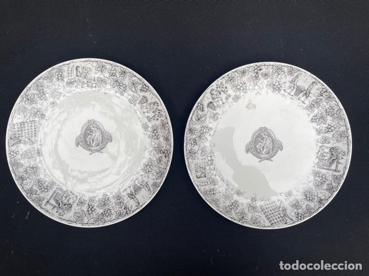 CONJUNTO DE DOS PLATOS DE PORCELANA SANTA CLARA (Antigüedades - Porcelanas y Cerámicas - Santa Clara)