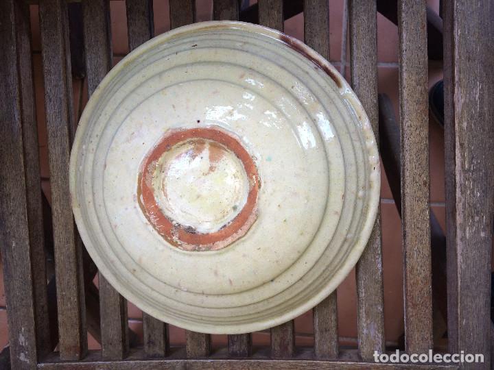 Antigüedades: ANTIGUA FUENTE O LEBRILLO - FAJALAUZA o TERUEL - 25,5 CMS. X 8 ALTO - Foto 6 - 254739235