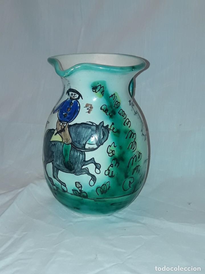 Antigüedades: Bella jarra de vino cerámica Santafe Puente Del Arzobispo Restaurante Botin Madrid - Foto 2 - 254740750