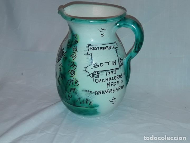 Antigüedades: Bella jarra de vino cerámica Santafe Puente Del Arzobispo Restaurante Botin Madrid - Foto 3 - 254740750