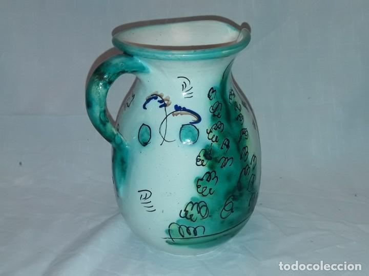 Antigüedades: Bella jarra de vino cerámica Santafe Puente Del Arzobispo Restaurante Botin Madrid - Foto 5 - 254740750