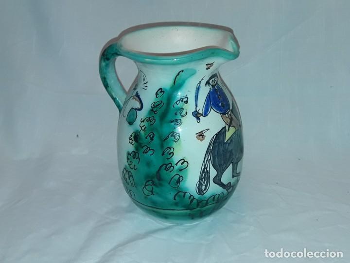 Antigüedades: Bella jarra de vino cerámica Santafe Puente Del Arzobispo Restaurante Botin Madrid - Foto 6 - 254740750