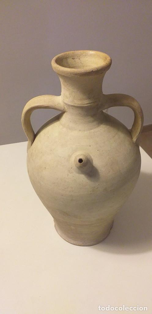 ANTIGUO CÁNTARO-BOTIJO DE ALCORA. PIEZA DIFÍCIL. (Antigüedades - Porcelanas y Cerámicas - Alcora)