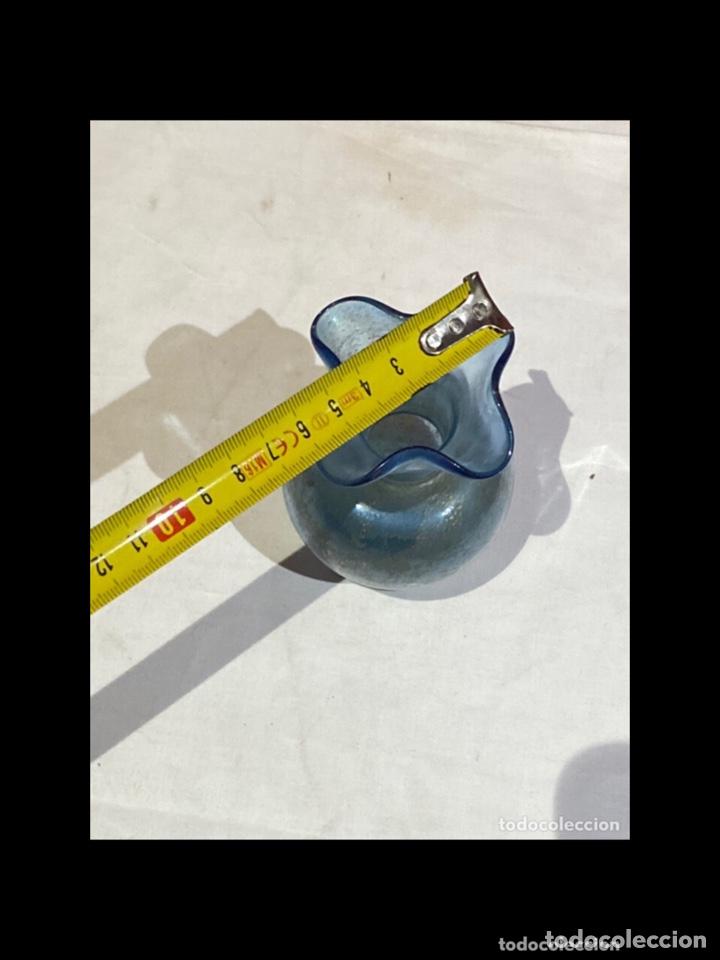 Antigüedades: Antiguo jarron cristal soplado,español siglo XX,pintados a mano con oro.ver las medidas en fotos - Foto 5 - 254755185