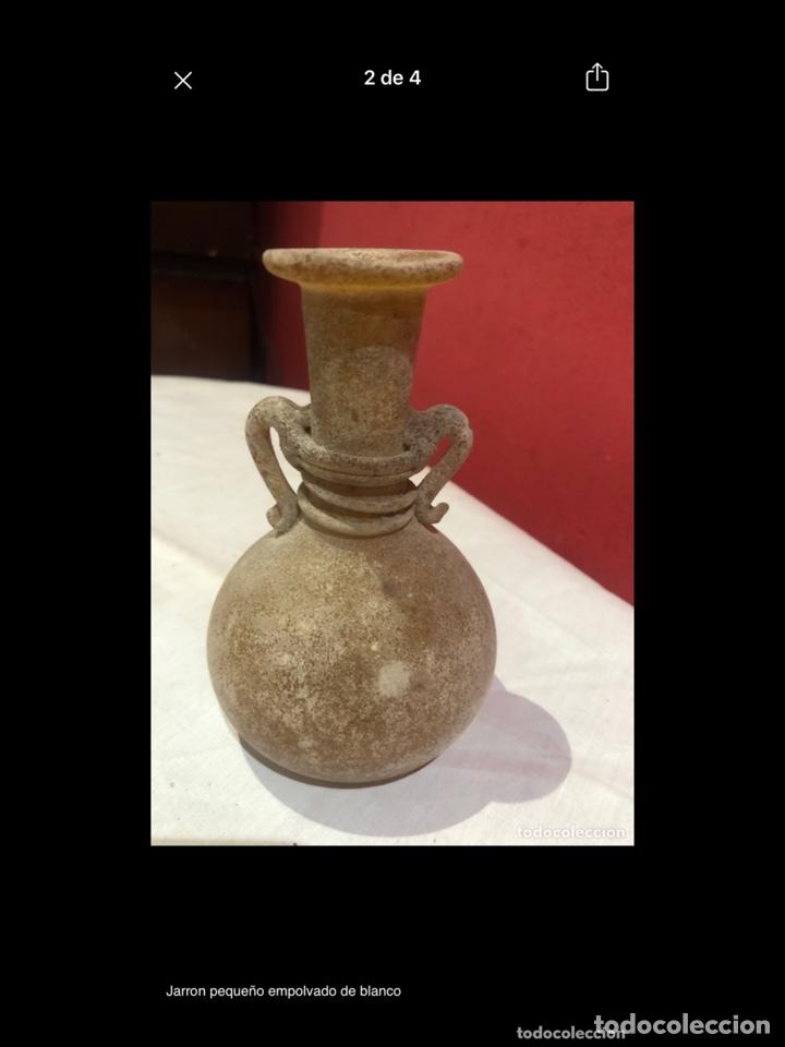 Antigüedades: Jarron pequeño empolvado de blanco - Foto 2 - 254756525