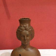 Antigüedades: BARTOLOME MARI TUR ANTIIGUA BOTELLA FIGURA DIOSA CRISTAL IBIZA EXCLUSIVA PIEZA. Lote 254757075