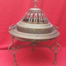 Antigüedades: BRASERO DE BRONCE SIGLO XIX. Lote 254768355