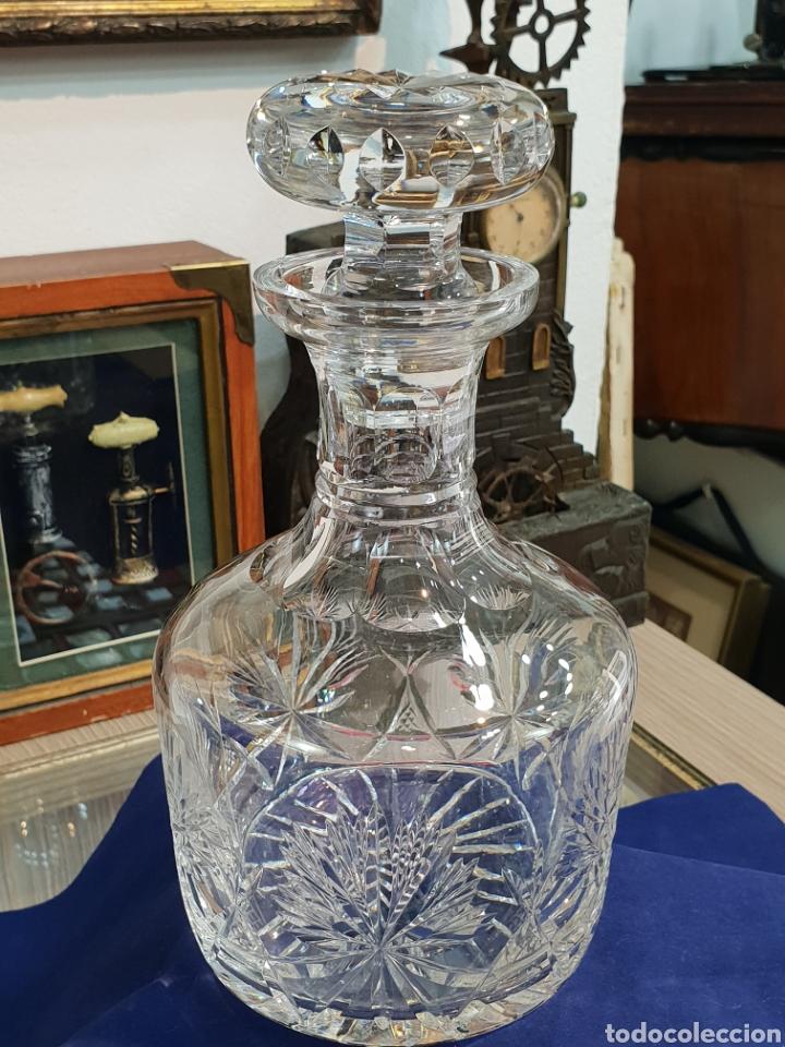 MAGNIFICA LICORERA CRISTAL TALLADO GRAN CALIDAD (Antigüedades - Cristal y Vidrio - Murano)