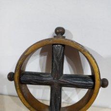 Antigüedades: ADORNO DE BRONCE PARA CAPILLA O URNA RELIGIOSA.PESADO.. Lote 254770315