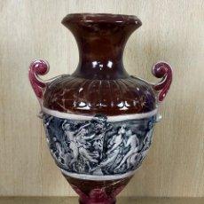 Antigüedades: JARRON DE CERAMICA DE MANISES - 60 CM DE ALTO. Lote 254779250