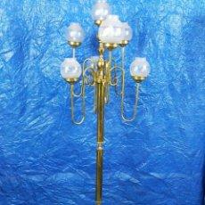 Antigüedades: LAMPARA DE PIE CON 7 TULIPAS. Lote 254783145