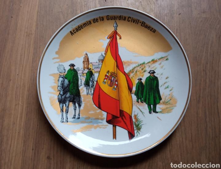 PLATO ACADÉMICA GC BAEZA. (Antigüedades - Porcelanas y Cerámicas - Cartagena)