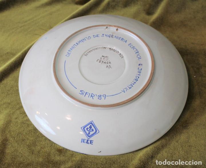 Antigüedades: Plato liso de cerámica. Sifir 89. - Foto 2 - 254803000