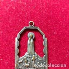 Antigüedades: MEDALLA ANTIGUA RELIGIOSA DE PLATA SIN CONTRASTAR. Lote 254805065