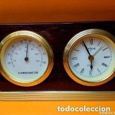 Antigüedades: RELOJ TERMOMETRO MARCA BATANE FUNCIONANDO PERFECTAMENTE. Lote 254810665