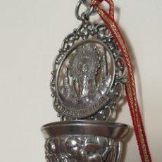 Antigüedades: ANTIGUA BENDITERA DE LA VIRGEN DEL PILAR. Lote 254885630