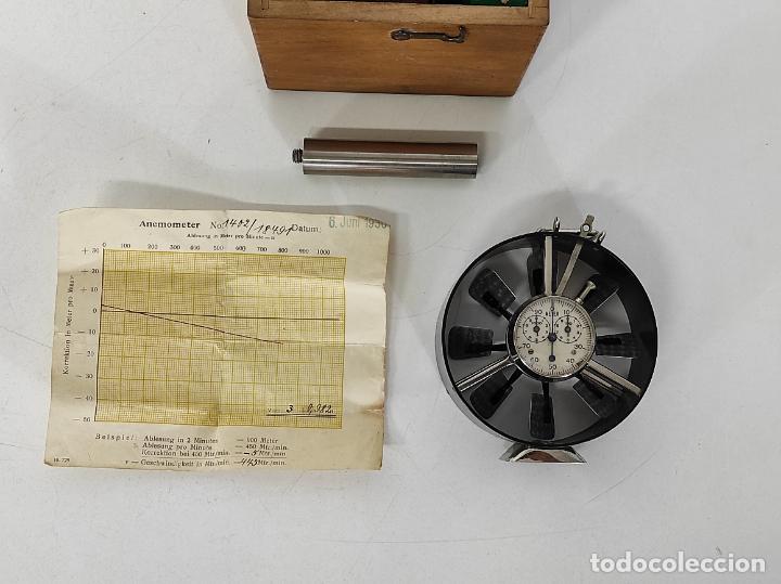 Antigüedades: Antiguo Anemómetro Wilh Lambrecht A.G Göttingen - con Caja - Data 6 Junio 1930 - Foto 2 - 254896250
