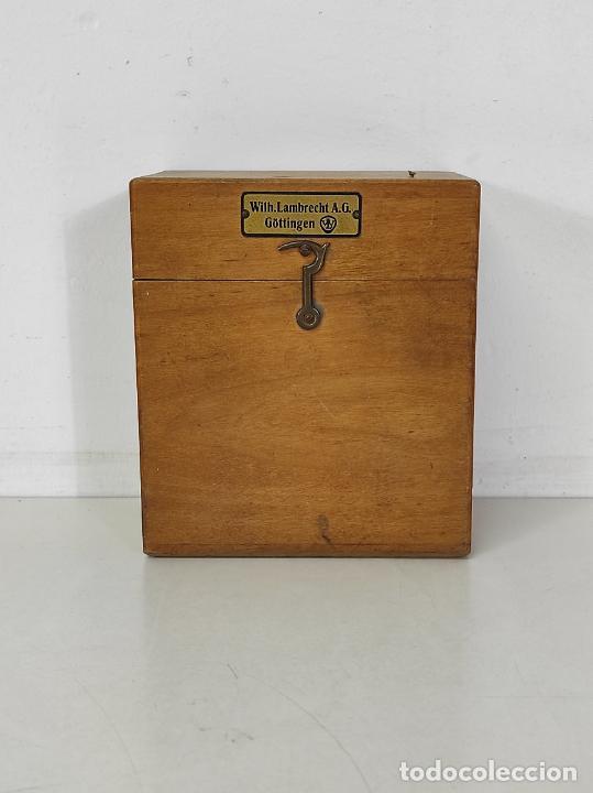 Antigüedades: Antiguo Anemómetro Wilh Lambrecht A.G Göttingen - con Caja - Data 6 Junio 1930 - Foto 10 - 254896250