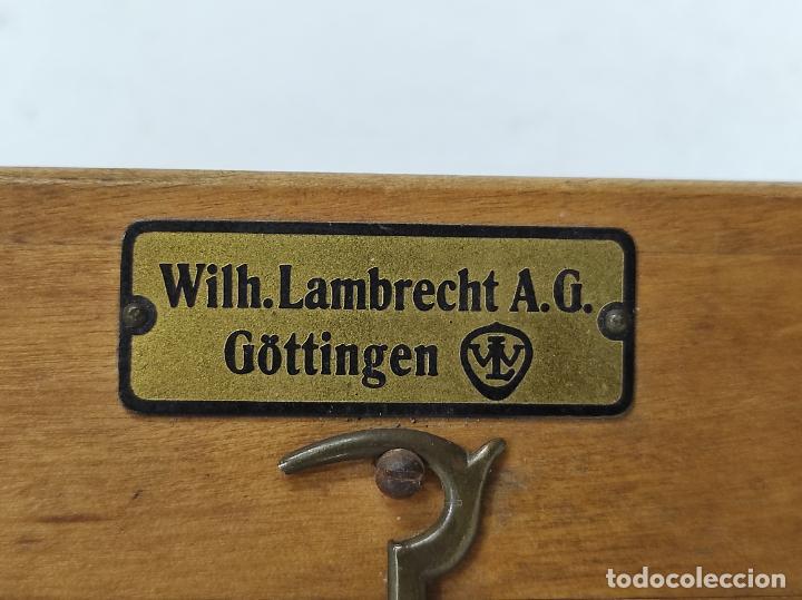 Antigüedades: Antiguo Anemómetro Wilh Lambrecht A.G Göttingen - con Caja - Data 6 Junio 1930 - Foto 11 - 254896250