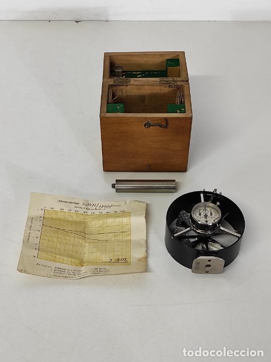 Antigüedades: Antiguo Anemómetro Wilh Lambrecht A.G Göttingen - con Caja - Data 6 Junio 1930 - Foto 12 - 254896250