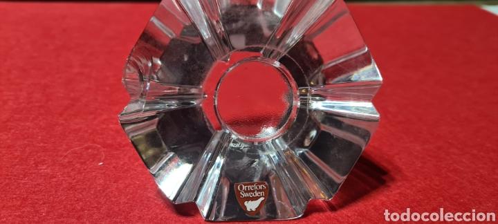 Antigüedades: Preciosa pieza de cristal con reloj. Orrefors Sweden - Foto 6 - 254907670