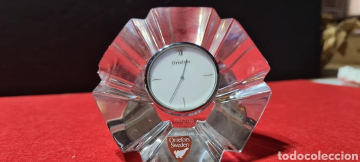 Antigüedades: Preciosa pieza de cristal con reloj. Orrefors Sweden - Foto 7 - 254907670