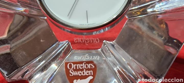 Antigüedades: Preciosa pieza de cristal con reloj. Orrefors Sweden - Foto 8 - 254907670