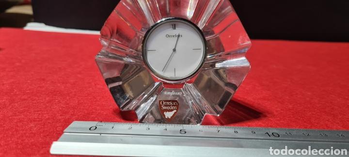 Antigüedades: Preciosa pieza de cristal con reloj. Orrefors Sweden - Foto 9 - 254907670