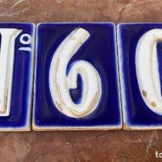 Antigüedades: AZULEJOS ANTIGUOS ESMALTADOS NUMERO 60 TAMBIEN PODRÍA VALER COMO NUMERO 6 MIDEN 10 X 7,2 CMS.. Lote 254912155