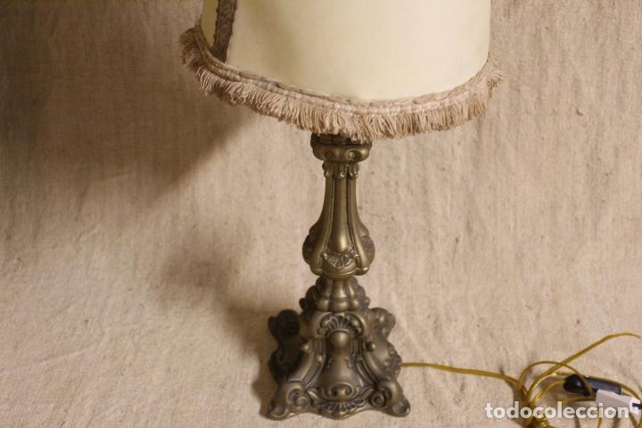 Antigüedades: lampara de sobremesa de bronce - Foto 2 - 254920680