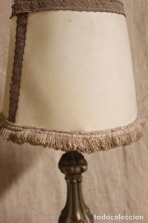 Antigüedades: lampara de sobremesa de bronce - Foto 4 - 254920680