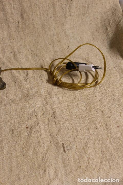 Antigüedades: lampara de sobremesa de bronce - Foto 7 - 254920680