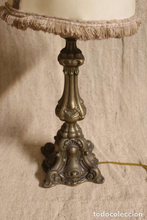 Antigüedades: lampara de sobremesa de bronce - Foto 8 - 254920680