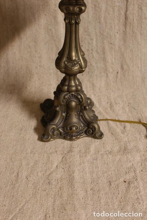 Antigüedades: lampara de sobremesa de bronce - Foto 9 - 254920680