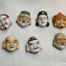 Antigüedades: BOTONES DE PORCELANA - JAPÓN- TOSHIKANE- DIOSES DE LA SUERTE. Lote 254928915