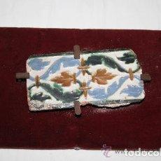 Antigüedades: AZULEJO MUDEJAR. CUERDA SECA. CERÁMICA ESMALTADA A MANO. SIGLO XV-XVI. Lote 254950490
