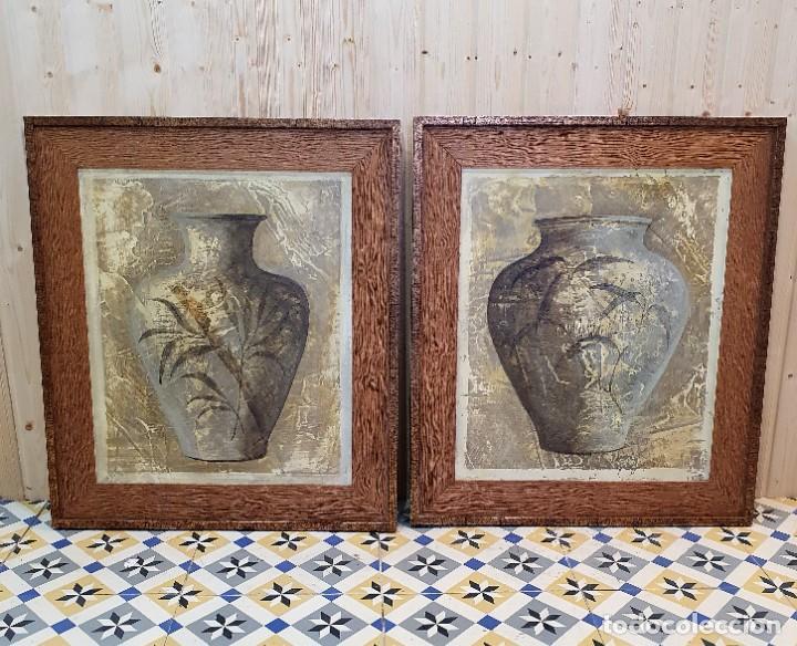 PAREJA DE CUADROS (Antigüedades - Hogar y Decoración - Otros)