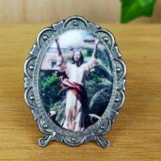 Antigüedades: NMARQUITO PORTAFOTOS PLATE4ADO RELIGIOSO. Lote 254956590