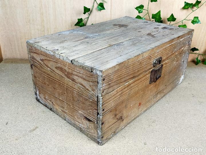 BAUL MADERA (Antigüedades - Muebles Antiguos - Baúles Antiguos)