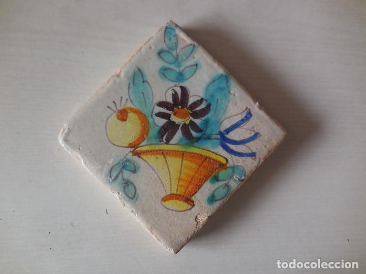 AZULEJO. FÁBRICA DE VALENCIA. SIGLO XVIII. CONSERVACIÓN EXCEPCIONAL. ORIGINAL¡¡¡¡ (Antigüedades - Porcelanas y Cerámicas - Azulejos)