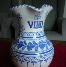 Antigüedades: JARRA DE VINO DE TALAVERA. GRANDE, ALTURA 21 CM.. Lote 254987505
